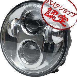 スポーツスター ダイナ ソフテイル V-ROD  LED プロジェクター ヘッドライト 5.75インチ ハーレー クロームメッキ 汎用 ヘッドランプ max-advancer