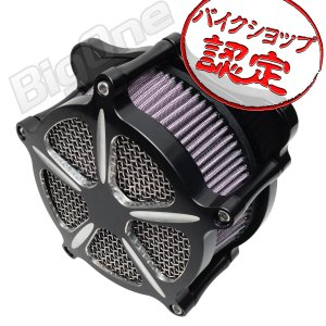 ソフテイル ダイナ ツーリング エアクリーナー キット ブラック 黒 ハーレー エアー フィルター ハイフロー FXDLS FLSTNSE FXSBSE FLSTSE max-advancer