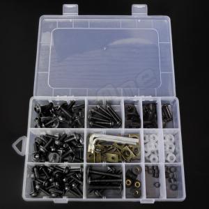 アルミ ボルト セット ブラック 黒 5mm 6mm M5 M6 ウェルナット クリップナット ナイロン ワッシャー カラー アルマイト フック ナンバー カウル カウリング|max-advancer|02