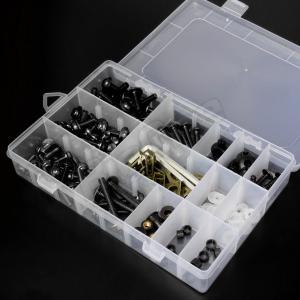 アルミ ボルト セット ブラック 黒 5mm 6mm M5 M6 ウェルナット クリップナット ナイロン ワッシャー カラー アルマイト フック ナンバー カウル カウリング|max-advancer|05