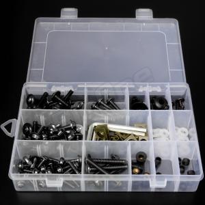 アルミ ボルト セット ブラック 黒 5mm 6mm M5 M6 ウェルナット クリップナット ナイロン ワッシャー カラー アルマイト フック ナンバー カウル カウリング|max-advancer|06
