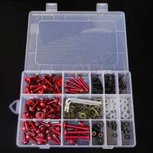アルミ ボルト セット レッド 赤 5mm 6mm M5 M6 ウェルナット クリップナット ナイロン ワッシャー カラー アルマイト フック ナンバー カウル カウリング max-advancer 02