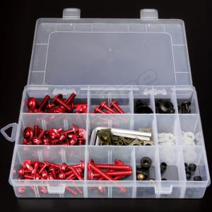 アルミ ボルト セット レッド 赤 5mm 6mm M5 M6 ウェルナット クリップナット ナイロン ワッシャー カラー アルマイト フック ナンバー カウル カウリング max-advancer 06