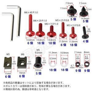 アルミ ボルト セット レッド 赤 5mm 6mm M5 M6 ウェルナット クリップナット ナイロン ワッシャー カラー アルマイト フック ナンバー カウル カウリング max-advancer 07