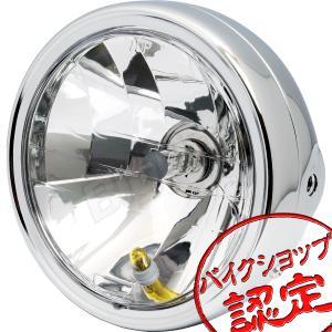 バイク ヘッドライト 6インチ マルチリフレクター ケース付き KH250 Z250FT Z250LTD 250SS 400SS KH400 Z400LTD Z400GP Z400FX GPZ400FII CB250N CB400Four max-advancer