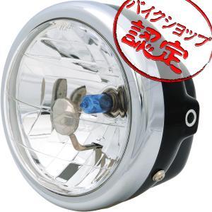 バイク ヘッドライト 6インチ マルチリフレクター ブラックケース モンキー YB-1 RZ50 エストレア 250TR グラストラッカー FTR250 ゴリラ CB223S TW225|max-advancer