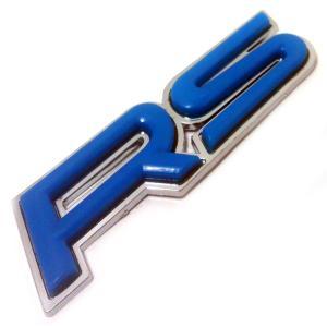 エンブレム RS メッキ 汎用 装飾 レクサス トヨタ ダイハツ ホンダ 日産 マツダ スズキ などに (青 【 ブルー 】) maximaselect