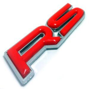 エンブレム RS メッキ 汎用 装飾 レクサス トヨタ ダイハツ ホンダ 日産 マツダ スズキ などに (赤 【 レッド 】 ) maximaselect