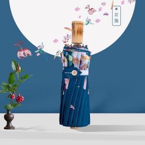 レトロ花柄晴雨兼用傘【個性派折り畳み傘/日傘】