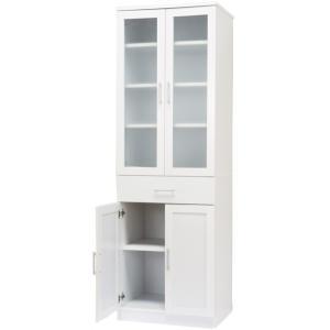 カップボード 食器棚 キッチン 食器収納 台所収納 キッチン収納 幅 約59cm キッチンボード ホワイト|maxlex|02