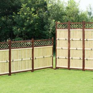 竹フェンス 横型3枚組 庭 竹垣 目隠し 間切り フェンス 袖垣 ガーデン DIY maxlex