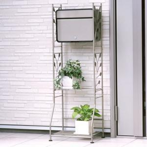ガーデンポストスタンドセット ポスト/スタンド/郵便受け/郵便ポスト/鍵付き/棚付き 代金引換不可|maxlex