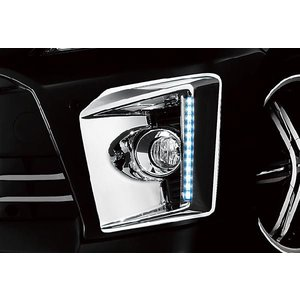 G-コーポレーション フォグランプ・ガーニッシュ(LEDデイライト付・ABS製)クローム(メッキ)仕様 for VELLFIRE|maxprice