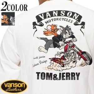 VANSON バンソン トムとジェリー コラボ ロング Tシャツ ロンT 長袖 メンズ TJV-2026|mayakasai