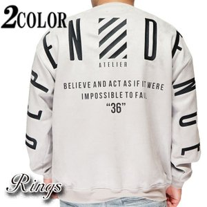 Rings リングス ロンT ロングTシャツ ビックサイズ ピーチスキン 140556|mayakasai