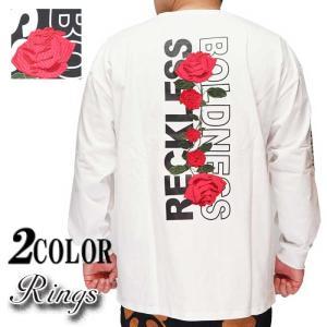 Rings リングス ロンT メンズ ローズ 刺繍 ロゴ  111803【Rings[リングス]から新作ロングTシャツが登場!!】|mayakasai