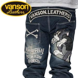 バンソン VANSON トムとジェリー コラボ メンズ 刺繍 ジーンズ デニム TJV-2117|mayakasai