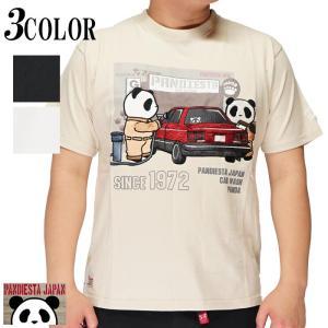 パンディエスタ PANDIESTA Tシャツ 半袖 パンダ 刺繍 メンズ ガソスタ 和柄 551352|mayakasai