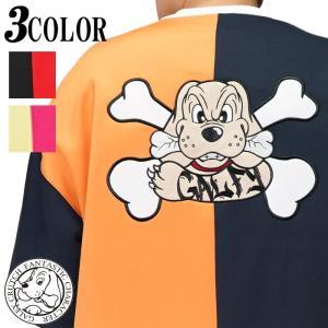 GALFY ガルフィー Tシャツ 半袖 メンズ レディース 半分 カラーギャング  ビックサイズ ドッグ 犬 112009|mayakasai