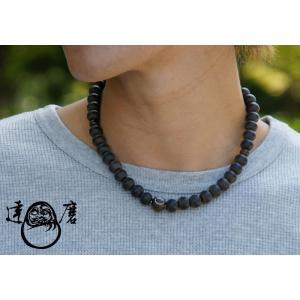達磨[だるま]首輪念珠/黒檀/和柄ネックレス/日本製/数珠/DAJ0002-05|mayakasai