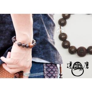 達磨[だるま]腕輪念珠/ビンロウ/和柄ブレスレット/日本製/数珠/DAJ0003-02|mayakasai