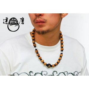 達磨[だるま] 桜 首輪念珠 和柄ネックレス/日本製/数珠/DAJ0002-15|mayakasai