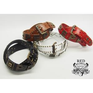 RED PEPPER[レッドペッパー] スタッズ ロゴ ベルト/61UM-37/送料無料|mayakasai