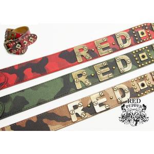 RED PEPPER[レッドペッパー] スタッズ 迷彩ロゴ ベルト/61UN-38/送料無料|mayakasai