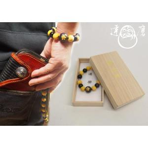 達磨[だるま] 前田慶次 腕輪念珠 和柄ブレスレット/日本製/数珠/DAJ0003-32|mayakasai