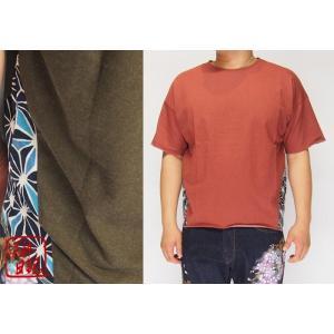 泥棒日記 斬切替 五分 和柄5分袖Tシャツ/D14558/送料無料|mayakasai