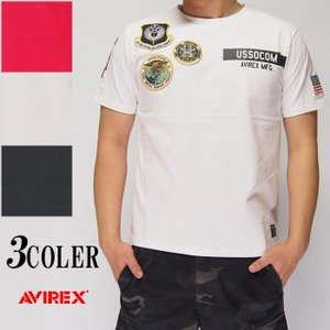 AVIREX[アヴィレックス] USSOCOM ワッペン仕様 クルーネック 半袖Tシャツ/61933...