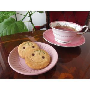 【にこにこクッキー(1枚入り)】自家栽培、無農薬のローズマリーを使ったかわいい顔クッキー、プチギフトにも人気|mayfair-net
