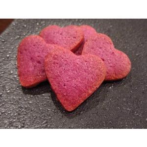【ハートの紫いもクッキー(2枚入り)】紫いもクッキーで作った、ちょっとしたプレゼントにぴったりのかわいいお菓子|mayfair-net