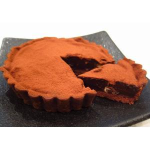 【ナッツのタルトショコラ(直径12cm)】要冷蔵、期間限定、香ばしいナッツ入りの濃厚な生チョコレートタルト、甘さひかえめで大人の味わい|mayfair-net