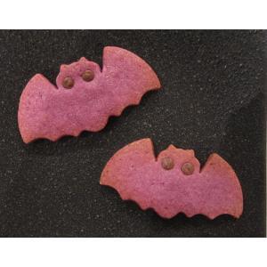 【こうもりクッキー(紫いも)】2枚入り、紫いもたっぷりのハロウィンのクッキー、期間限定 mayfair-net