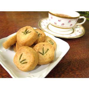 【ローズマリーのクッキー(15枚入り)】自家栽培、無農薬のローズマリーをのせたクッキー、ミネラルたっぷりのきび砂糖と佐渡の海洋深層水の塩を使用|mayfair-net