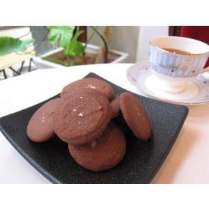 【塩バタークッキー(チョコ)】3枚入り、6月限定、ミネラル豊富な佐渡の海洋深層水の塩と上質なビターチョコレートを使用 mayfair-net