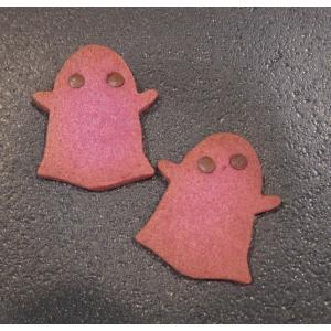 【おばけクッキー(紫いも)】2枚入り、紫いものやさしい味わいのクッキー、ハロウィンのプレゼントやプチギフトに mayfair-net