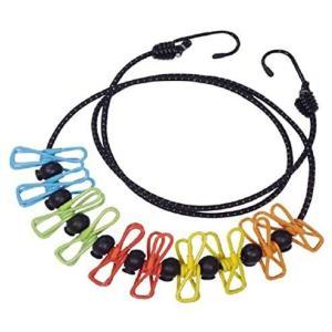 マルチピンチ キャンプハンガー 10連 ピンチ 物干し ロープ 洗濯バサミ付ロープ ランドリーロープ