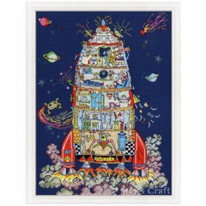 【 キット内容 】   布(16-count Zweigart社製 Aida) 刺繍糸(Madeir...