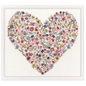 クロスステッチ 刺繍キット ラブハート Bothy Threads Love Heart 日本語解説付き
