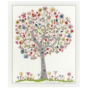 刺繍キット クロスステッチ ラブツリー Bothy Threads Love Tree 日本語解説付き