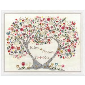 クロスステッチ 刺繍キット ラブブラッサム Bothy Threads  Love Blossoms 日本語解説付き ウェルカムボード ウェディング