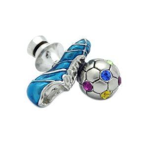 クールビズ 贈り物 SWANK ピンズ サッカーシューズ&ボールピンズ|mays-jewelry