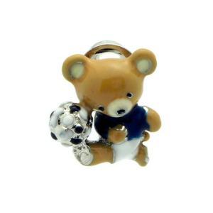 クールビズ 贈り物 SWANK ピンズ ベアスポーツのピンズ(サッカー)|mays-jewelry
