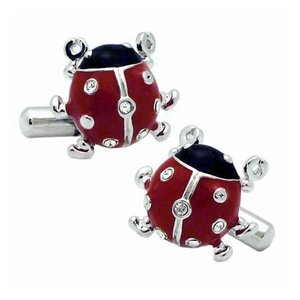 クールビズ 贈り物 ギフト SWANK カフス カフリンクス テントウムシのカフス|mays-jewelry