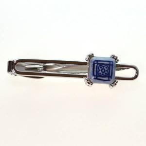 クールビズ 贈り物 ギフト デルフト焼き タイピン ネクタイピン(2677)|mays-jewelry