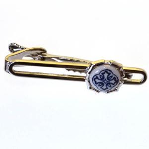 クールビズ 贈り物 ギフト デルフト焼き タイピン ネクタイピン(2679)|mays-jewelry