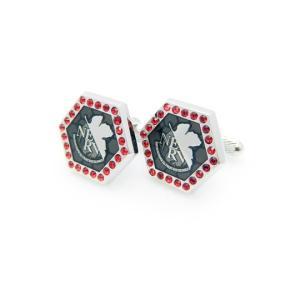 父の日 父親 贈り物 エヴァンゲリオン×SWANK カフス NERVロゴカフス NEW|mays-jewelry