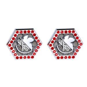父の日 父親 贈り物 エヴァンゲリオン×SWANK NERVロゴボタンカバー(2個セット)|mays-jewelry